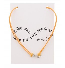 KK-C-C5.2 Kaartketting Love The Life INFINITY Orange