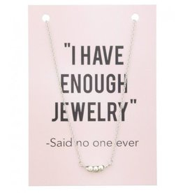 KK-C-E2.1 Kaartketting Enough Jewelry PEARLS Silver