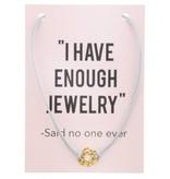 Ketting op Kaart Enough Jewelry Flower Rose Gold