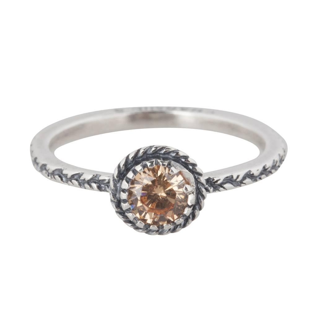 Charmin's Crown Champaign Diamond 925 Sterling Zilver R288