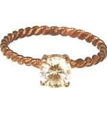 Charmin's TWISTED DIAMOND ROSE SMALL R196