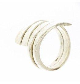 Zilveren Gehamerd ring - 925 Sterling Zilver