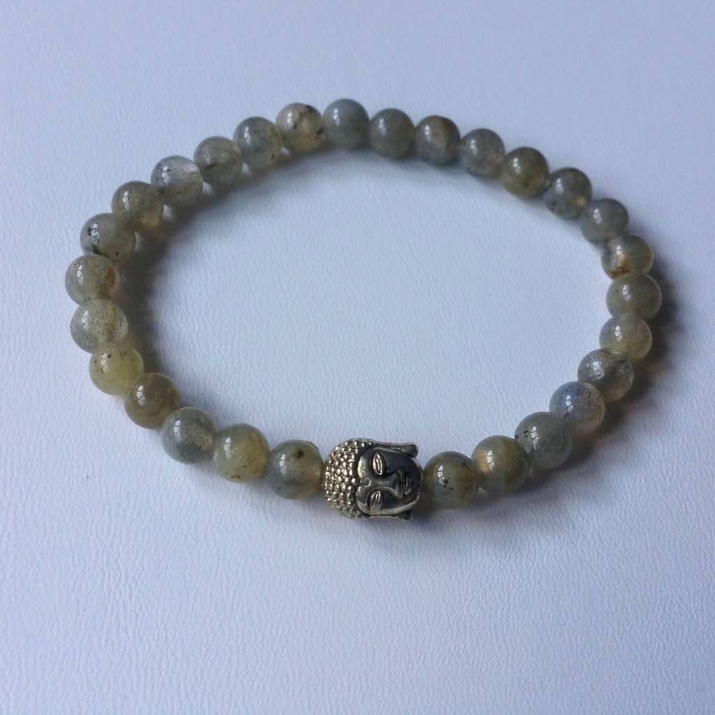 Armband Natural Stones - Labradoriet - 6 mm