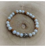 Sazou Jewels Armband Natural Stones -Parelmoer - 8 mm
