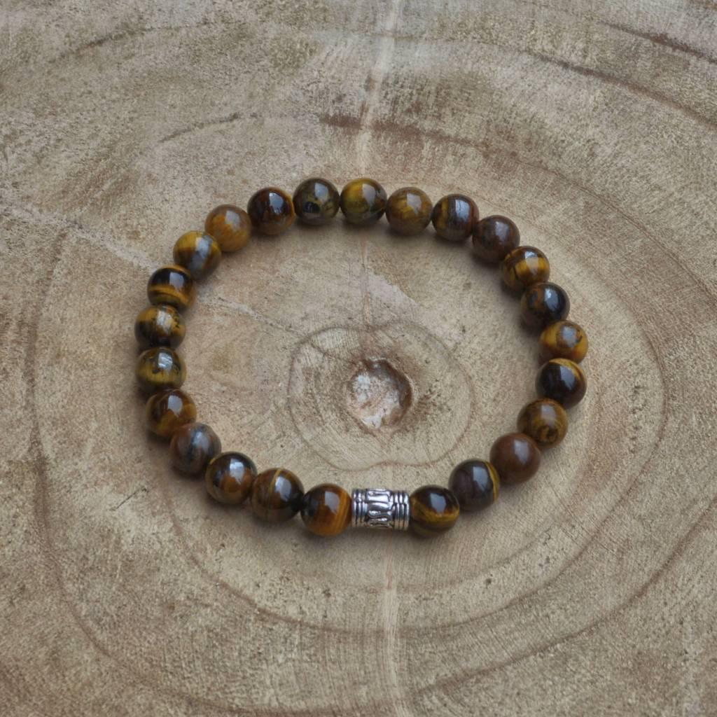 Sazou Jewels Armband Natural Stones TIJGEROOG