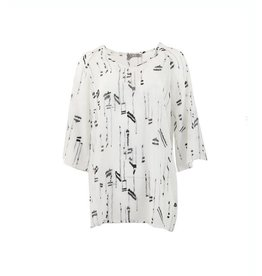 C & S Paris Top Wit Zwart