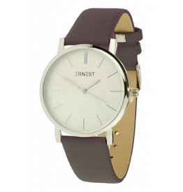 Ernest Horloge Timeless Silver Choco
