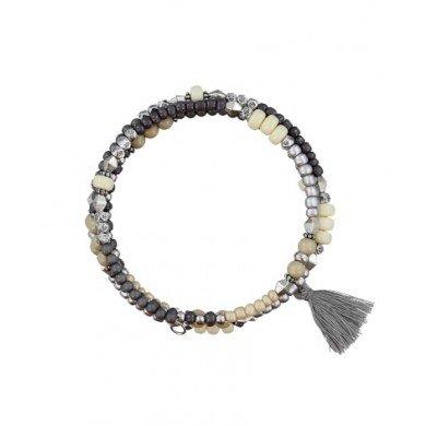 A-Zone Wire Wikkel armband met Tassel