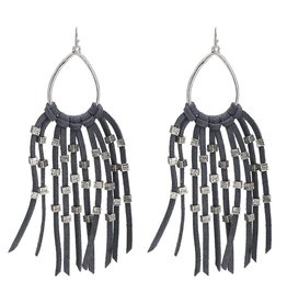 Oorbel Suede Fringes - Grey
