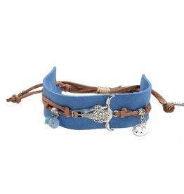 Armband Boho Charms Blue