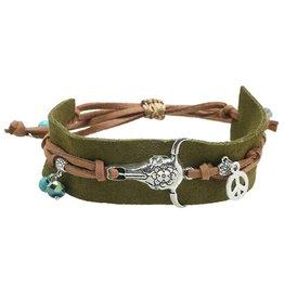 Armband Boho Charms Green