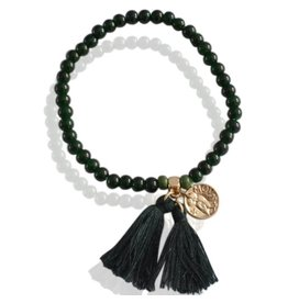 Sazou Jewels Armband Claire Dark Green