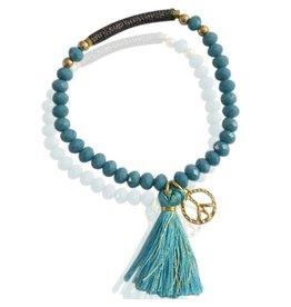 Sazou Jewels Armband Peace Blue
