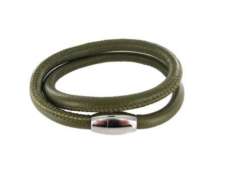 Colori Armband Leer Colori Jewels - Olive