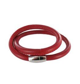 Colori Armband Leer Colori Jewels - Red