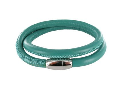 Colori Armband Leer Colori Jewels - Turquoise