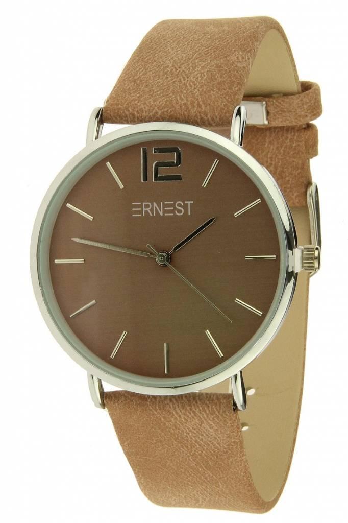 Ernest Horloge Silver Forever Old Pink
