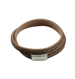 Armband Wikkel Beige Bruin