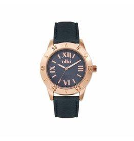 IKKI Horloge JULIE, JU42, 42mm, Rual Blue-Rosé