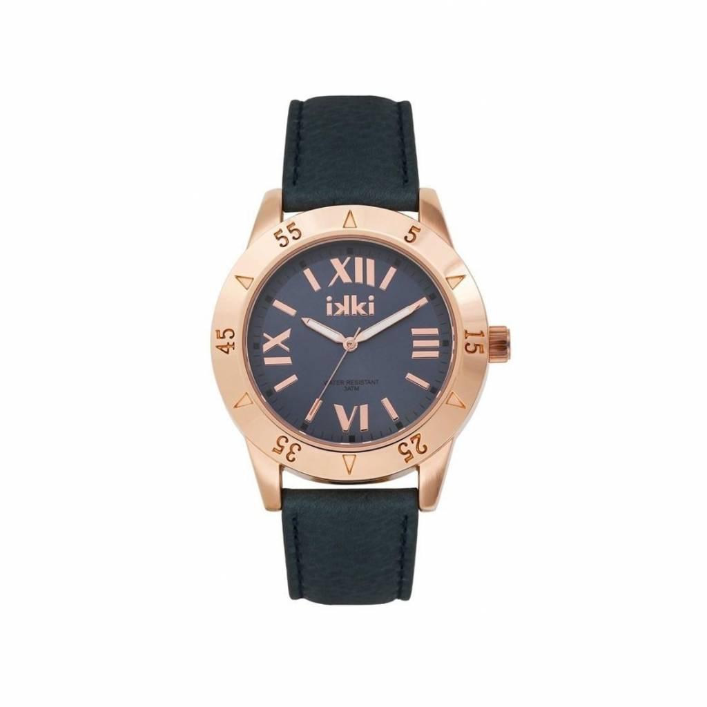 IKKI Horloge JULIE, JU42, 42mm, Royal Blue-Rosé