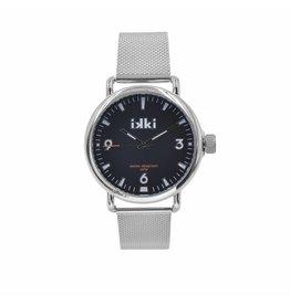 IKKI Horloge BRAD BD01, 47mm Silver-Black Unisex