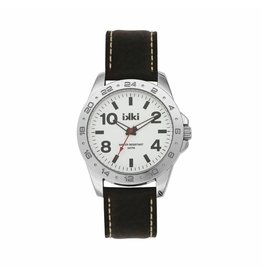 IKKI Horloge JAKE, JK05, 45mm Dark Brown-White-Silver