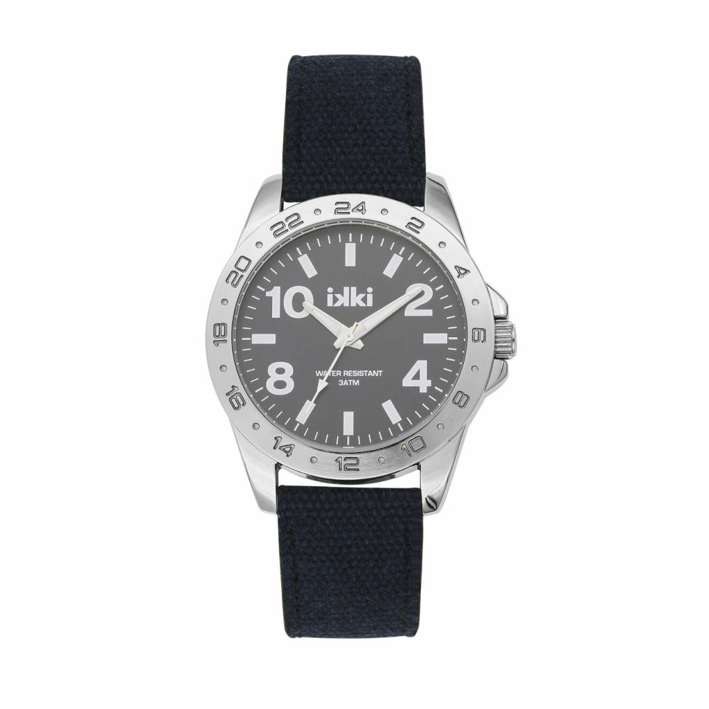 IKKI Horloge JAKE, JK06, 45mm Navy Blue Silver