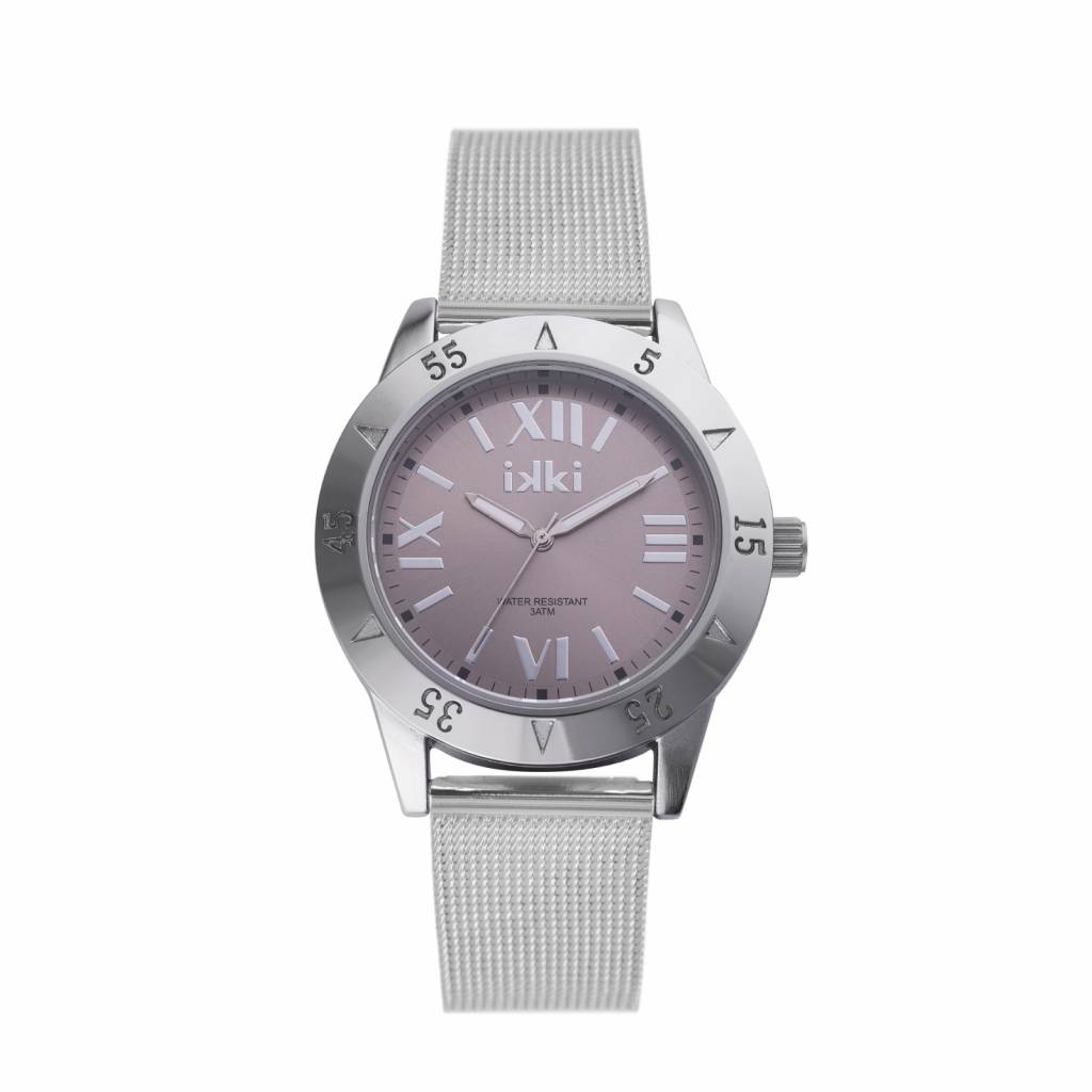 IKKI Horloge REED, RD01, 42mm Silver Brown