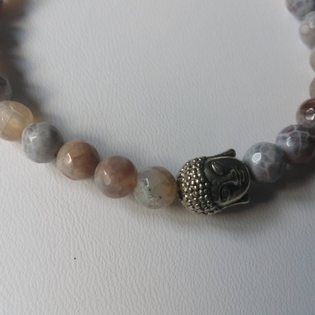 Armband Natural Stones -Laguna Agaat - 6mm