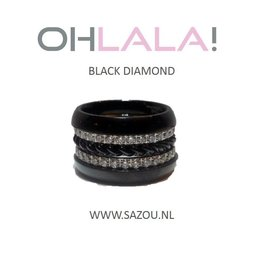 Ohlala Ringenset Black Diamond
