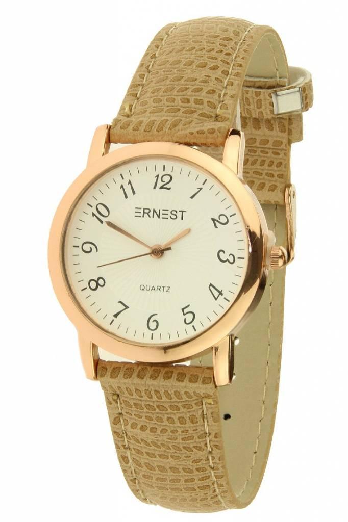 Ernest Horloge Pedra Camel Rose
