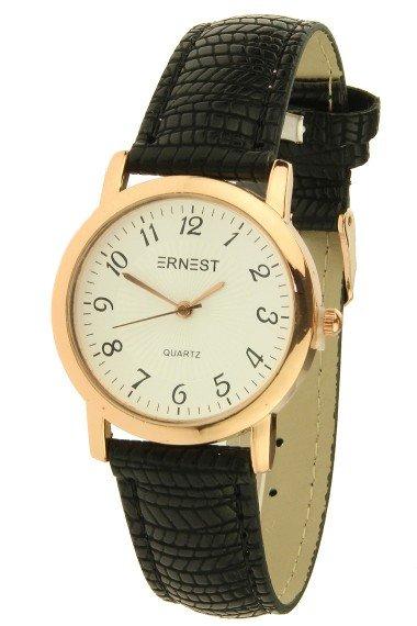 Ernest Horloge Pedra Black Rose