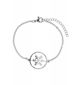 Armband Ice Snowflake Edelstaal Silver