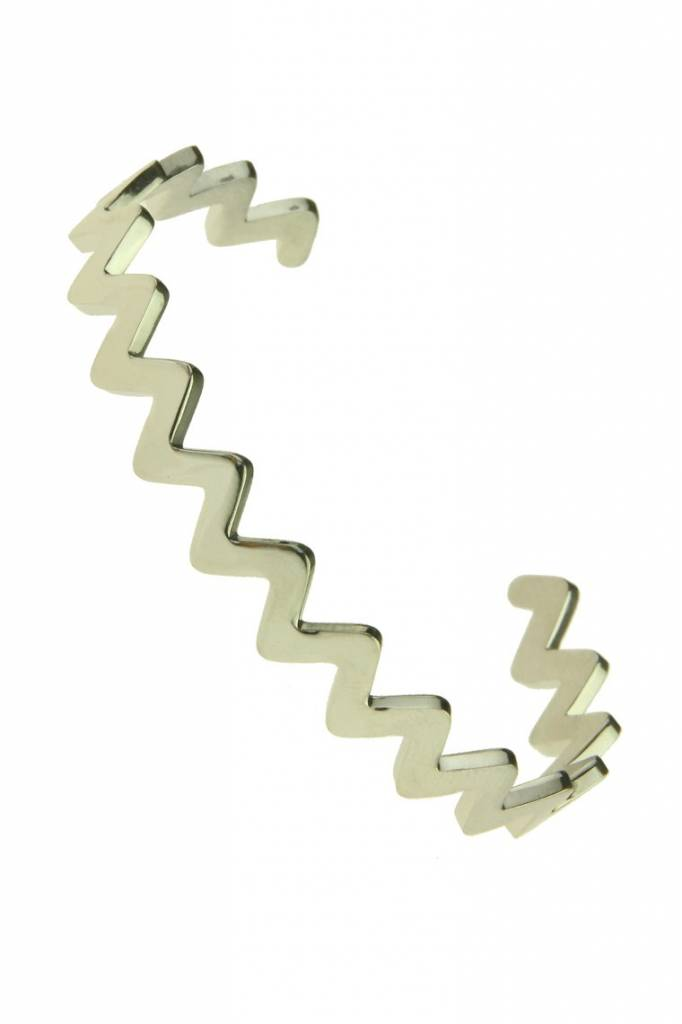 Armband Zig Zag Edelstaal  Zilver