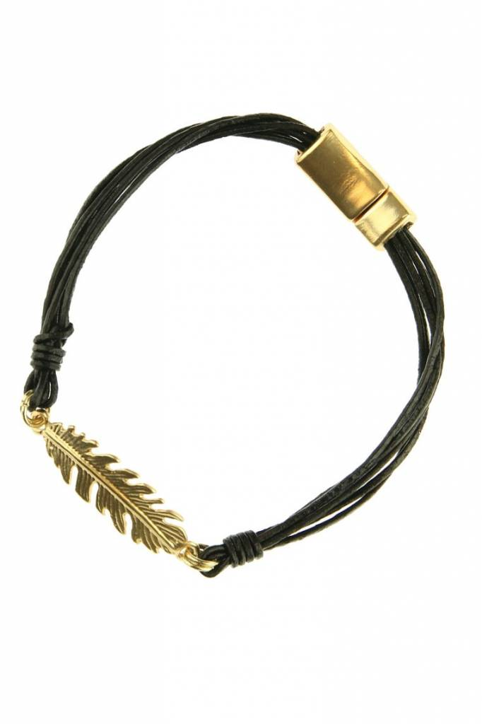 Armband Feather Black