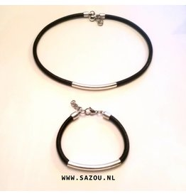 Sazou Jewels Ketting & Armband SZ 501 Set Simply Black 2