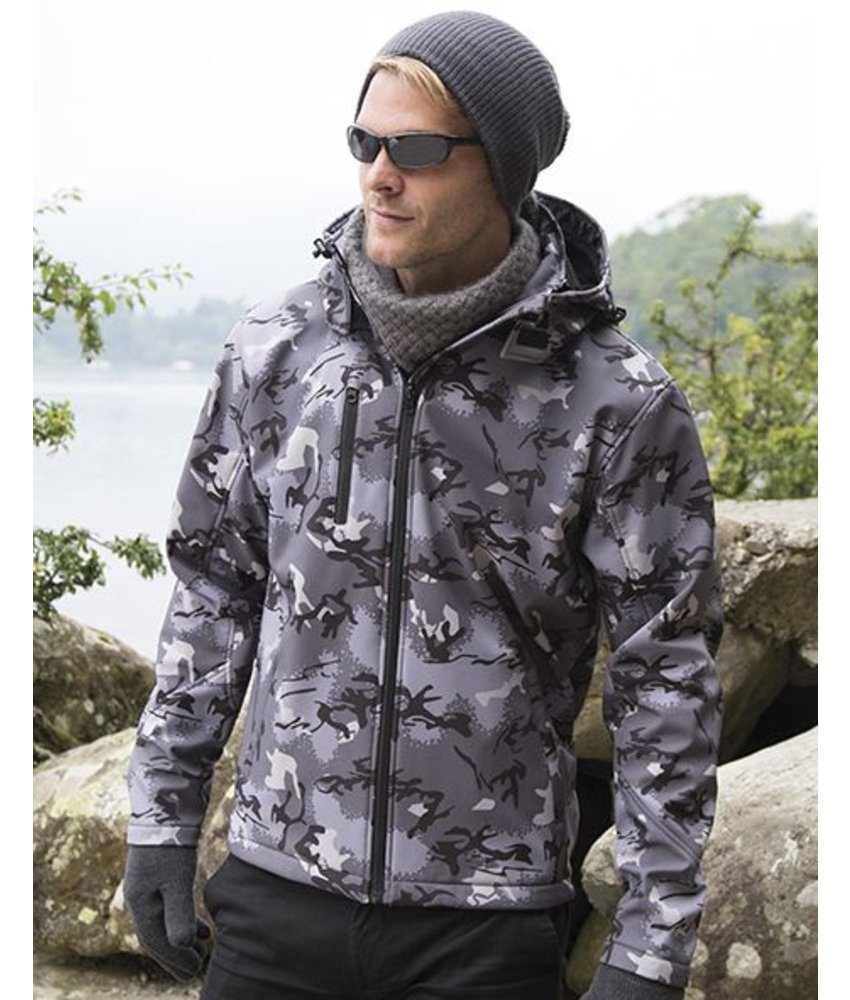 Result Urban Camo TX Performance Hooded Softshell