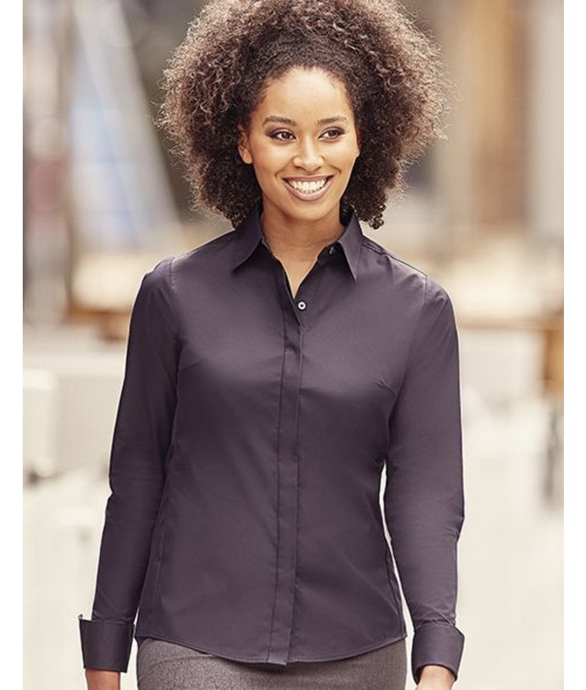 Russell Collection Ladies' LS Ultimate Stretch Blouse