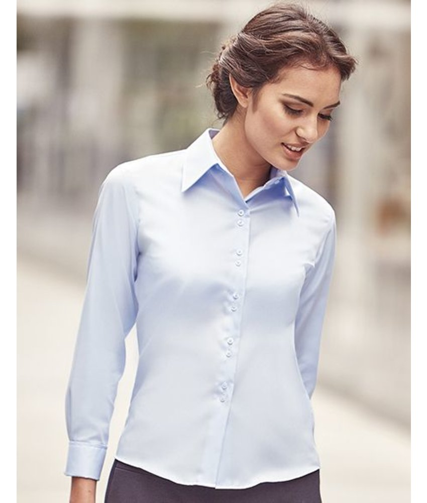 Russell Collection Ladies Ultimate Non-iron Blouse LS