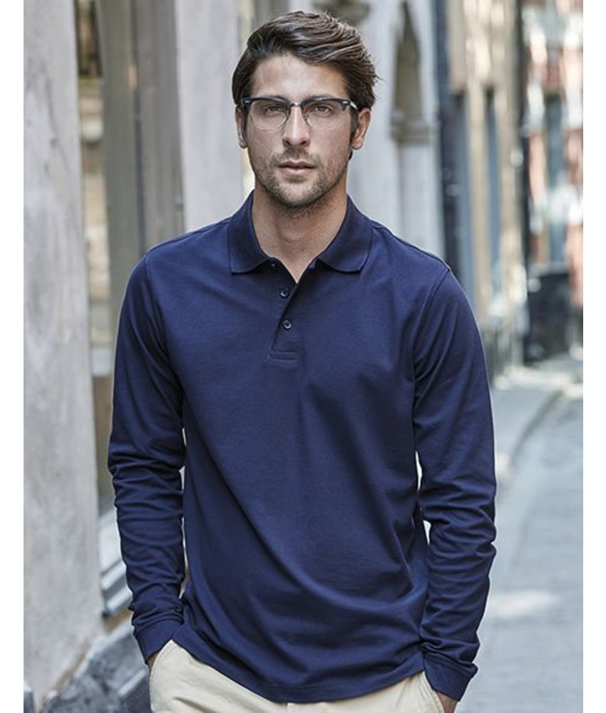 Tee Jays Luxury LS Stretch Polo