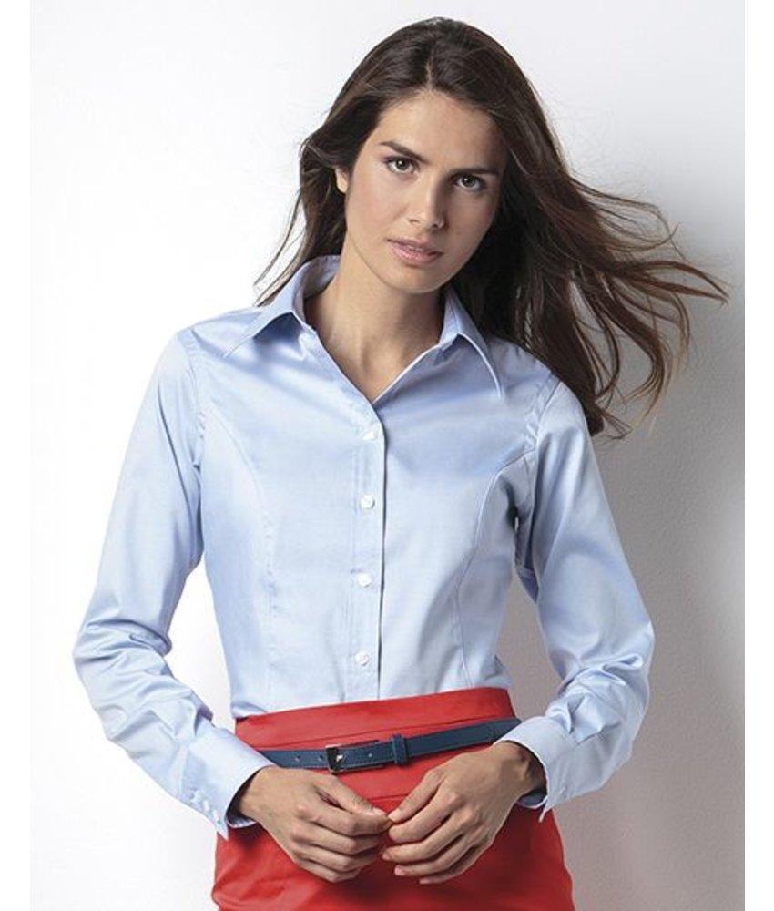 Kustom Kit Ladies Corporate Oxford Blouse LS