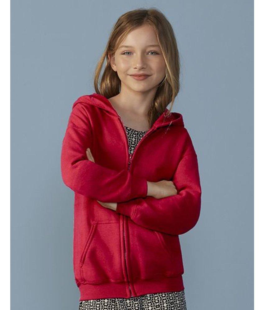 Gildan Heavy Youth Full Zip Hooded Vest