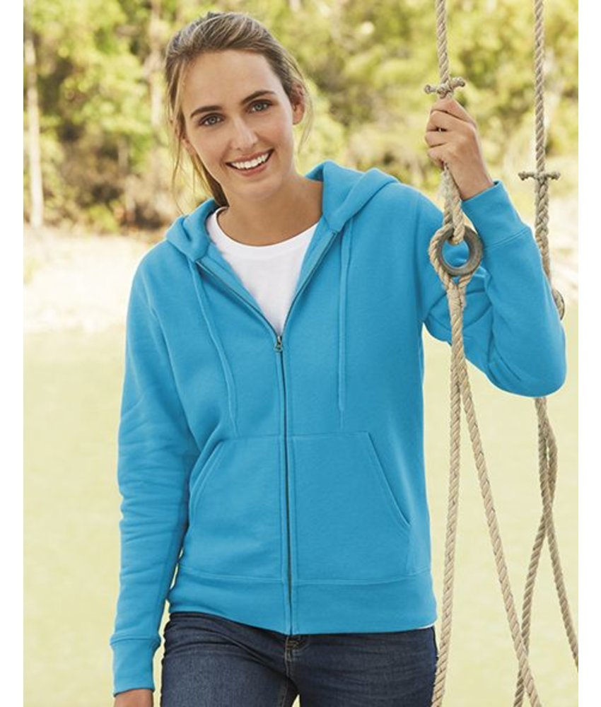 Fruit of the Loom Lady-Fit Hooded Sweat Vest