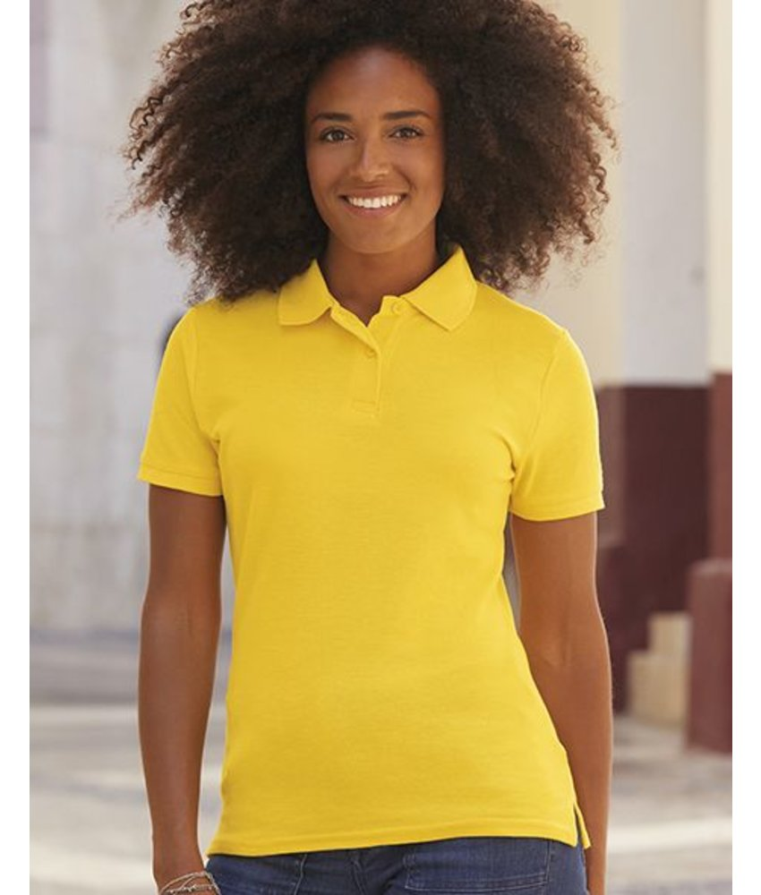 Fruit of the Loom Ladies Polo Blended Fabric