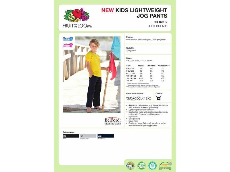 Fruit of the Loom Kids Lightweight Jog Pants