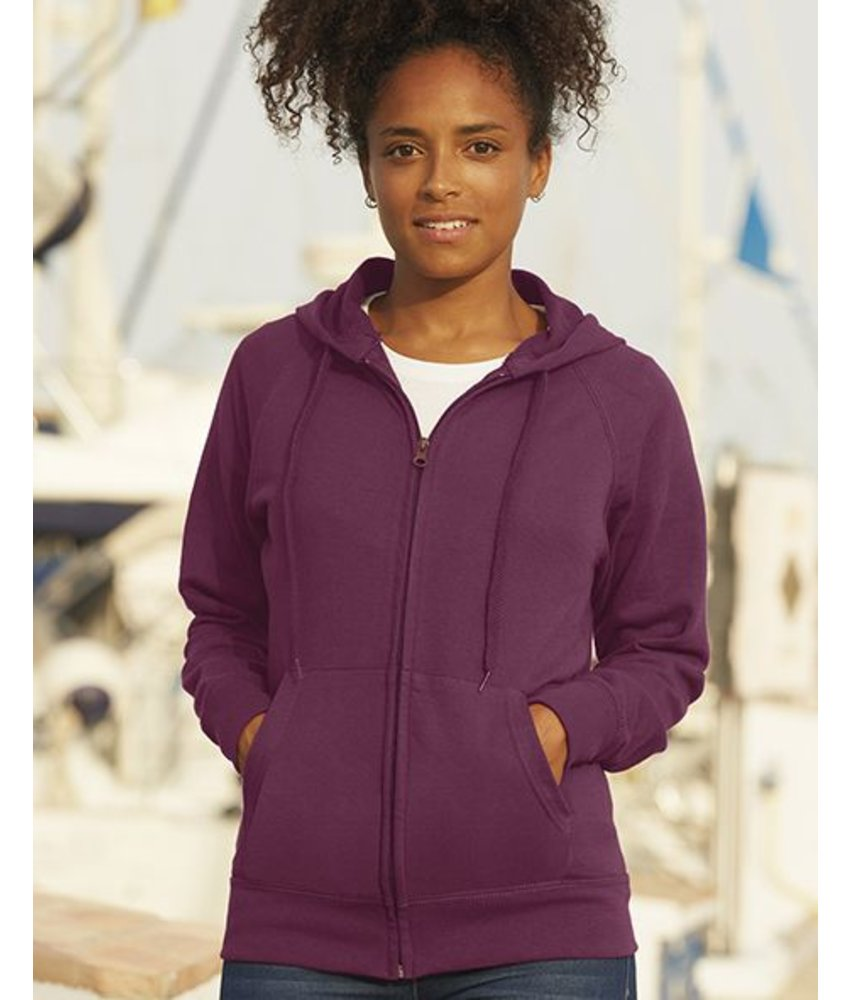 Fruit of the Loom Lady-Fit Lightweight Hooded Sweat Vest