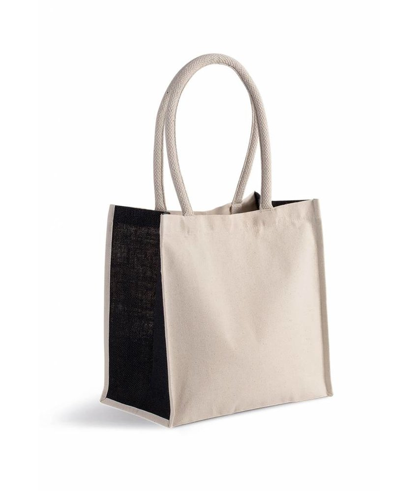 Kimood | KI0255 | Cotton/jute tote bag - 17 L