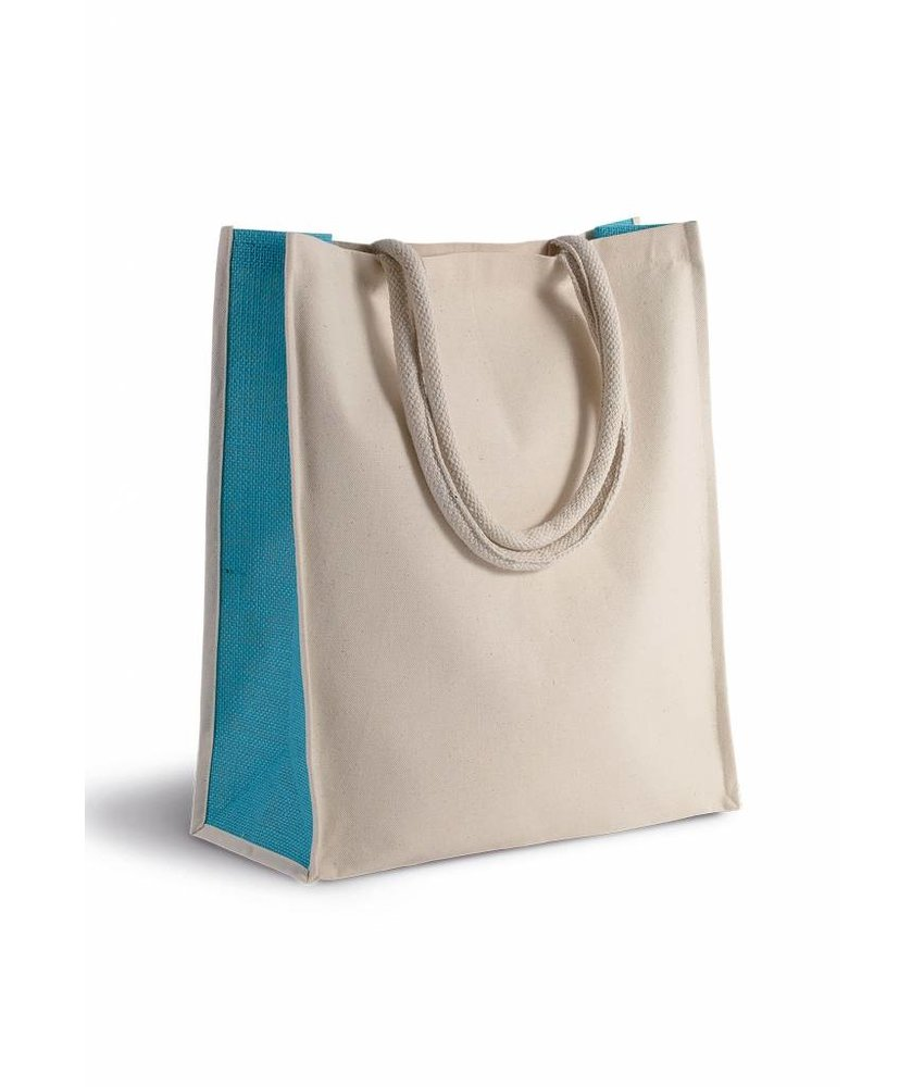 Kimood | KI0253 | Cotton/jute tote bag - 23 L