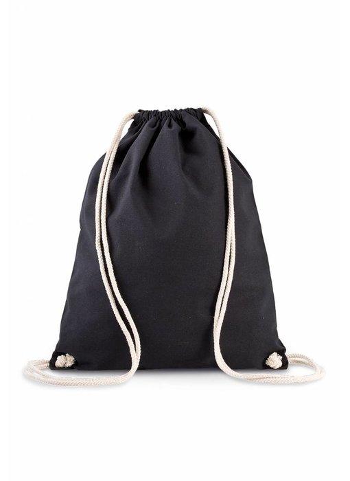Kimood | KI0139 | Organic cotton backpack with drawstring carry handles