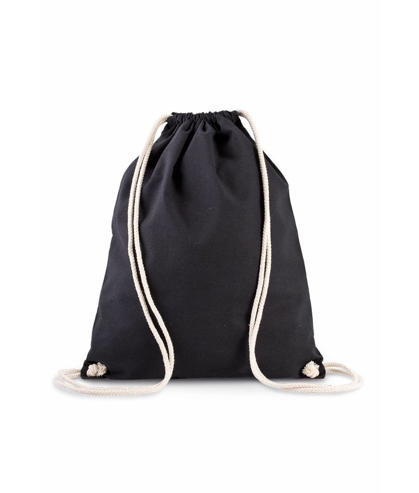 Kimood | KI0139 | Organic cotton backpack with drawstring carry handles